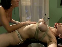 Lez bondage with big racked MILF Annika