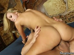 Jessie Rogers receives her muff pushed after sixtynine