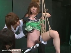 Japanese slavery sex with extreme s&m punishment