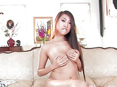 Seductive Sharon Lee plays her her soft round pointer sisters
