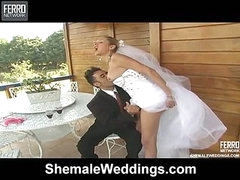 Camile attractive tgirl bride