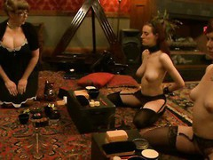 Massive tits redhead angel dominated and fucked in perverted clinic.