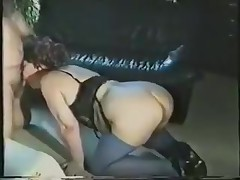 A fat lady gets all dressed up in her slutty lingerie and goes down on all fours. Waiting to be drilled from the back, she's surprised to see the rod in her face. Luckily, she adapts quickly and sucks on it.