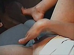 Cute slender girl with admirable little pointer sisters widens her legs in the front seat of her husbands car and fingers her self  that babe has admirable perky pointer sisters and hard nipples, admirable vocal,   fine to see