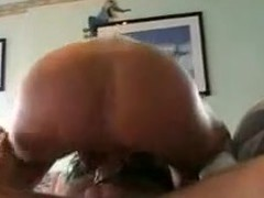 This gal is taking a strap-on fake penis in her ass. Her hubby fills her wazoo with it hard. Then she sucks his ramrod and finishes with his dick in her pussy