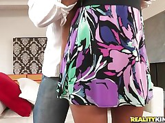 `Bebe Leflour is a concupiscent Latin babe with her pretty large tits and large ass. In her high heels, she meets this dude who strips her and plays with her tits; before she widens her legs wide and gets her cookie treated with fingering and licking! And after that she goes for the boner. Let's watch how good she is!`