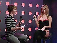 2 hawt girls speak live about sex in a jewish manner. They are broke and trying to buy something, but don`t have enough money. These jokes about sex are indeed turning 'em on. Besides looking for Mr. Right, the blonde desires to go down on her girlfriend for some money. This babe takes her brassiere off, it`s so hot.