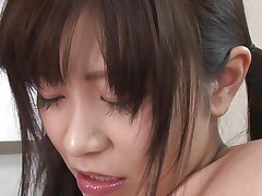 Schoolgirl Aika is in the classroom surrounded by three men in suits. She needs to pass a very important and private exam so this hottie could begin her career. The cute slut needs to pass her masturbation test and after that to prove that this hottie can engulf rod like a real pro and much more. Let's watch how she's doing