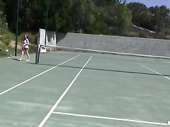 She is out on the tennis court on a bright, warm and sunny day. it makes her very hot and willing to shed her clothes to get rid of her heat. this babe receives into the shower to reveal a pair of wobblers that can drive a man eager and an arse that is a joy to look at. coach is going to enjoy her body.
