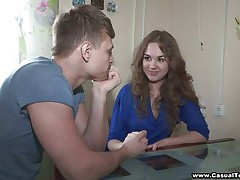 Really sexy legal age teenager with perfect melons receives enjoyable talked to fuck with this lucky guy. She takes off her clothes and brassiere and we can see her beautiful tits. She is ready now to fuck her pink legal age teenager muff