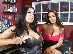 Kiara Mia and Nina Mercedez are 2 sexy MILFs these love to play lesbian often. In a bar, these 2 were alone and their homosexuality jumps out of their cages for a dominating hardcore lesbian love. One of them got rough with one greater quantity one and made her to strip, suck boobs & nipples, get ass slapped and pussy licked.