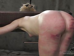 That perfect booty merited a good beating solely that the executor crossed the line and bruised it. Look at it how fucked up it is, would you like to fuck an booty like that? Of course you will, it's hotter! Sara is a golden-haired whore that enjoys being spanked until her booty turns red and purple, wanna see what else that babe likes?