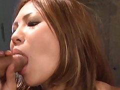 Large brassiere buddies Oriental gets her taut cum-hole thrashed in hawt group sex